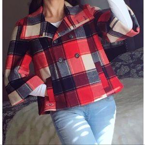 Hollister Plaid Coat 🧥